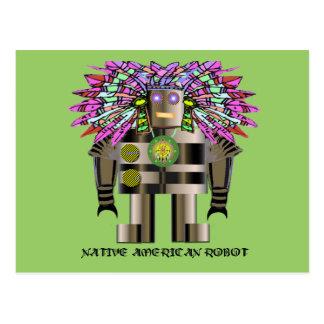 Robot del nativo americano postales