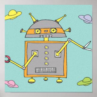 Robot del niño póster