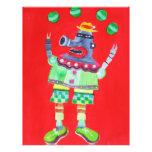 ROBOT del PAYASO QUE HACE JUEGOS MALABARES - arte  Flyer Personalizado