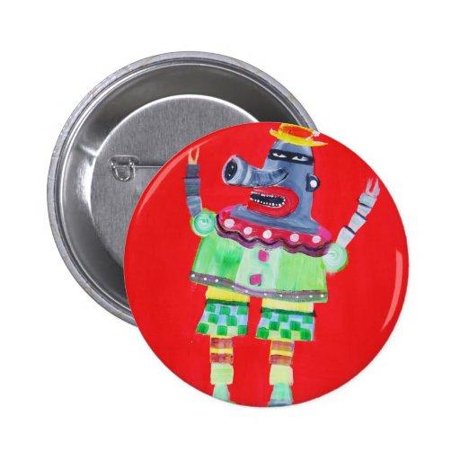 ROBOT del PAYASO QUE HACE JUEGOS MALABARES - arte  Pin