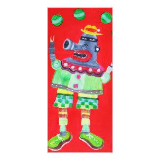 ROBOT del PAYASO QUE HACE JUEGOS MALABARES - arte  Plantillas De Lonas