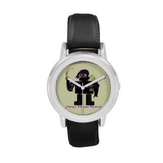 Robot del pirata de Ninja Relojes De Pulsera