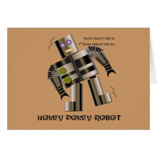 Robot del Pokey de Hokey Tarjeta De Felicitación