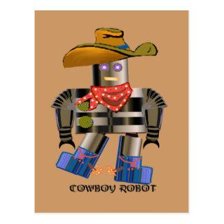 Robot del vaquero postales