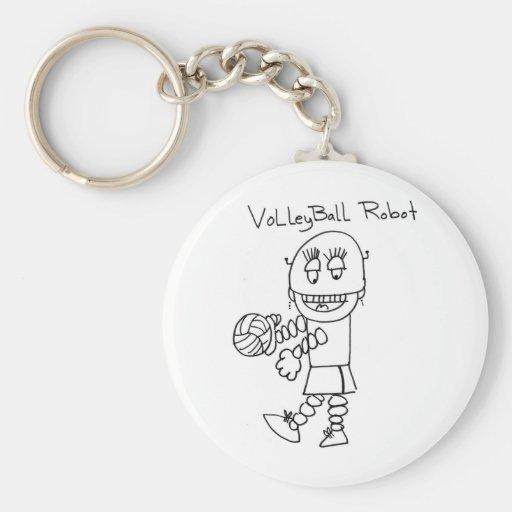 Robot del voleibol llaveros personalizados