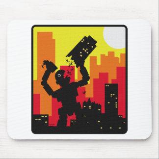 Robot Destroy Mouse Pad
