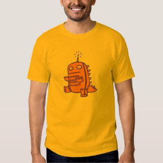 Robot Dino - Orange T-Shirt