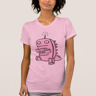Robot Dino - Pink T-shirts