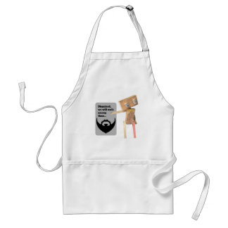 Robot disguise adult apron