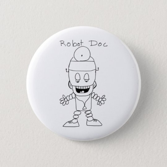 Robot Doctor Pinback Button