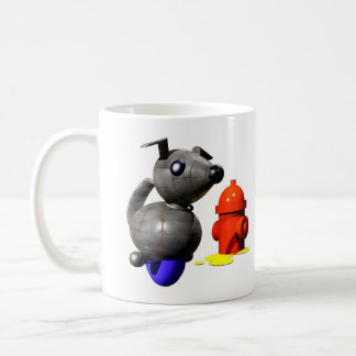 ROBOT DOG PEEING COFFEE MUG