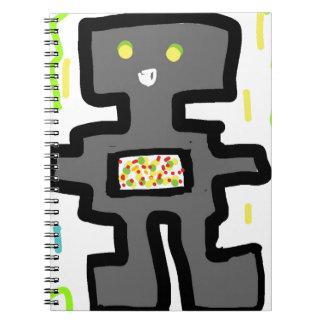 robot drawing cartoon notebook