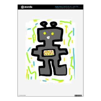 robot drawing cartoon skin for iPad 3