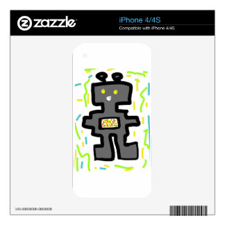 robot drawing cartoon skins for iPhone 4S