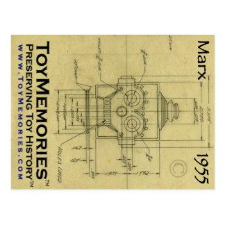 Robot eléctrico por la postal del dibujo de Louis
