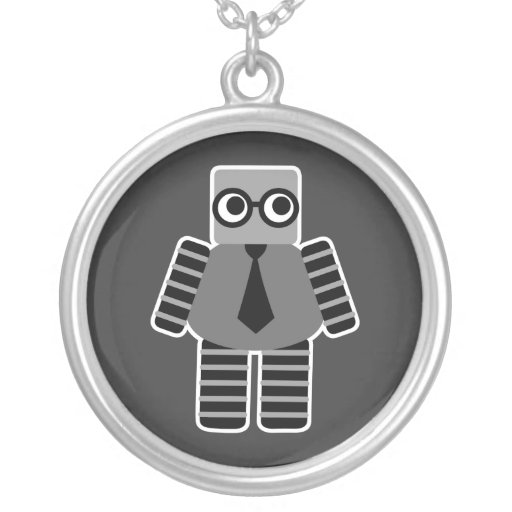 Robot elegante del friki joyerías