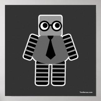 Robot elegante del friki poster