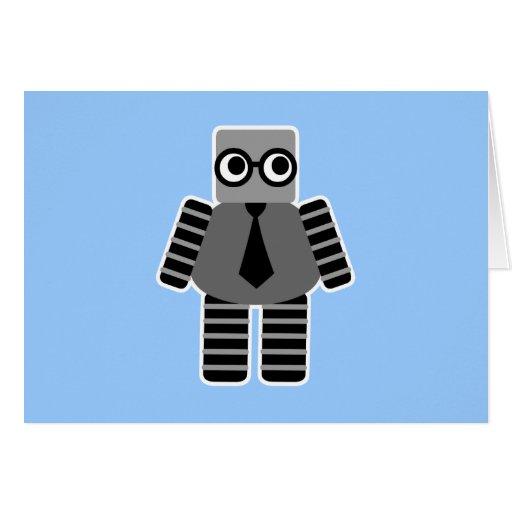 Robot elegante felicitacion