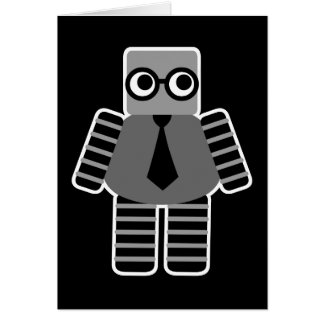 Robot elegante Notecards del friki