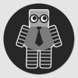 Robot elegante pegatina redonda