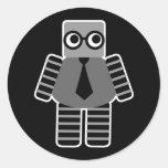 Robot elegante pegatinas redondas