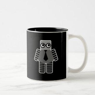 Robot elegante taza de café