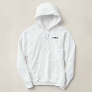 ROBOT embroidered hoodie