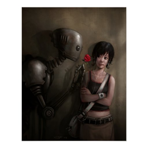 Robot en amor póster