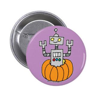 Robot en calabaza pins