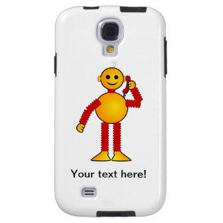 Robot en el dibujo animado del teléfono