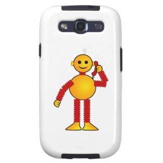Robot en el dibujo animado del teléfono galaxy SIII cárcasa