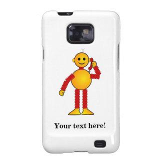 Robot en el dibujo animado del teléfono samsung galaxy s2 funda