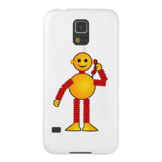 Robot en el dibujo animado del teléfono carcasa de galaxy s5
