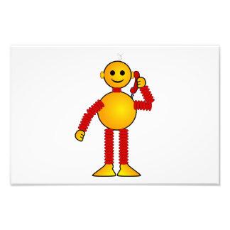Robot en el dibujo animado del teléfono foto