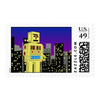 Robot en la ciudad sellos