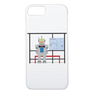 Robot en una parada de autobús funda iPhone 7