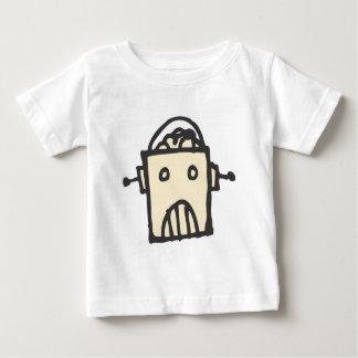 Robot enojado con el cerebro t-shirts