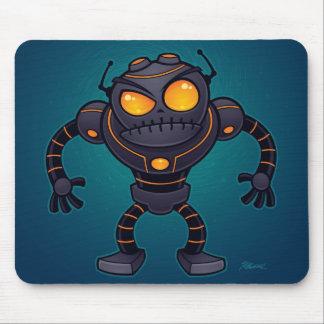 Robot enojado mouse pads
