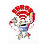 Robot enojado postales