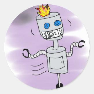 Robot Error Classic Round Sticker