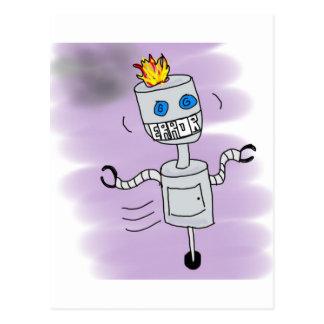 Robot Error Postcard