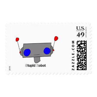 Robot estúpido sello