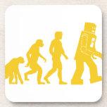Robot Evolution Beverage Coasters