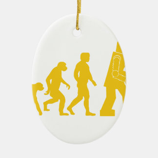 Robot Evolution Ceramic Ornament