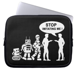 Robot evolution laptop sleeve