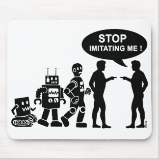 Robot evolution mouse pad