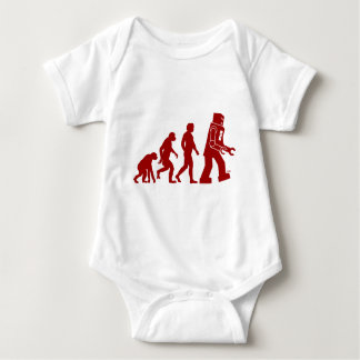 Robot Evolution of man into robot Baby Bodysuit
