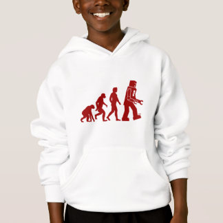 Robot Evolution of man into robot Hoodie