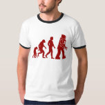 Robot Evolution of man into robot Shirts