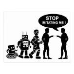 Robot evolution postcard